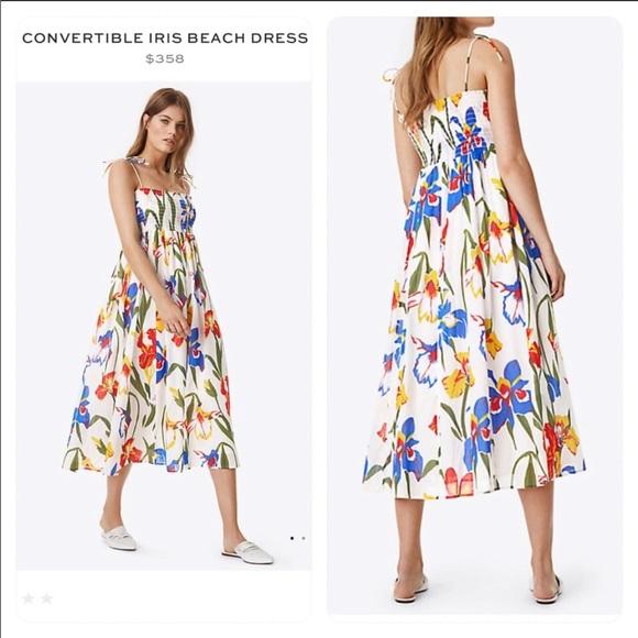 ce3f54141e Tory Burch Dresses | Convertible Iris Beach Dress | Poshmark